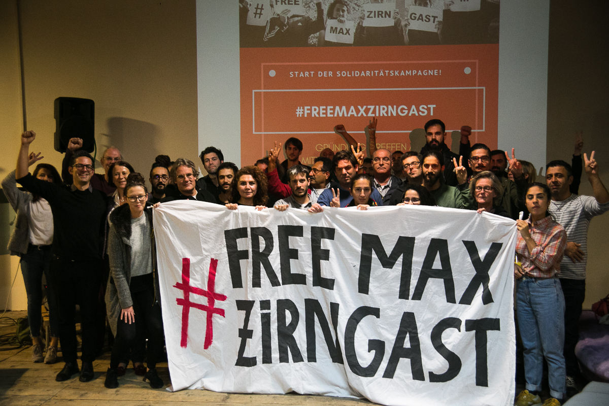 27th September 2018, The Foundation of the Solidarity Campaign #FreeMaxZirngast